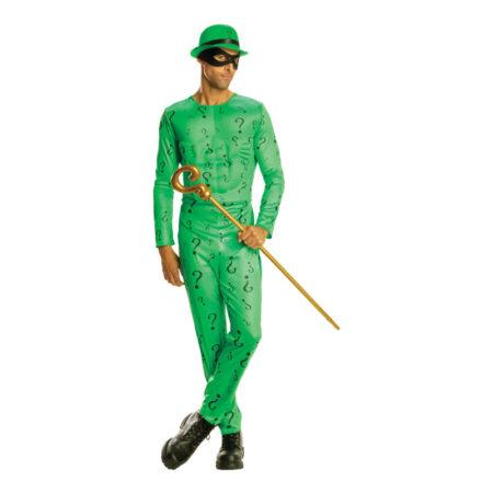riddler kostume til voksne gækker kostume til mænd sidste skoledag kostume skurk grønt kostume til voksne