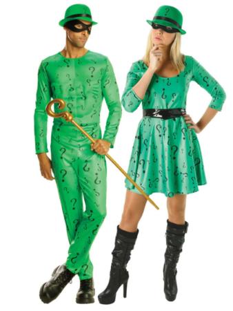 riddler par kostume batman skurk kostume til par grønt par kostume quiz kostume gådefuldt kostume