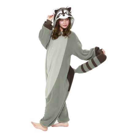 vaskebjørn kigurumi 450x450 - Kigurumi til voksne - heldragt til voksne
