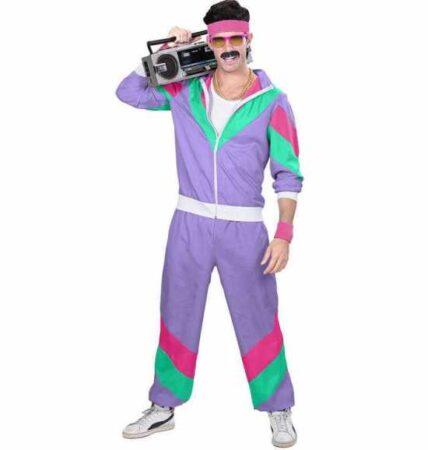 80er Træningsdragt Lilla kostume 428x450 - Lilla kostumer til voksne