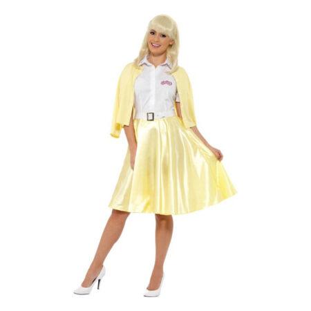 Grease gult sandy kostume 450x450 - Gule kostumer til voksne