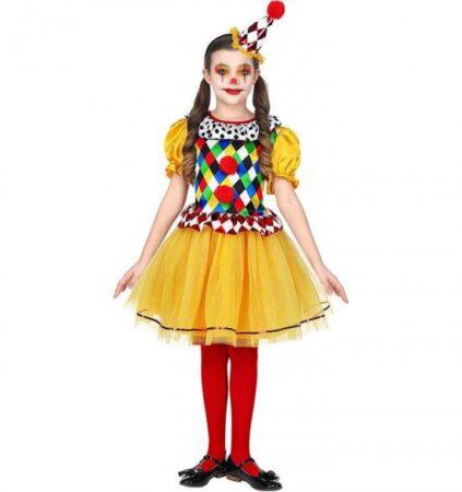 Gul klovn børnekostume 423x450 - Gule kostumer til børn