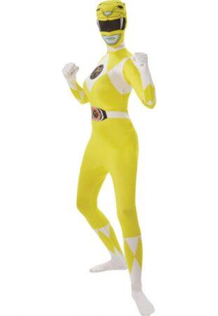 Gul power rangers kostume 311x450 - Gule kostumer til voksne