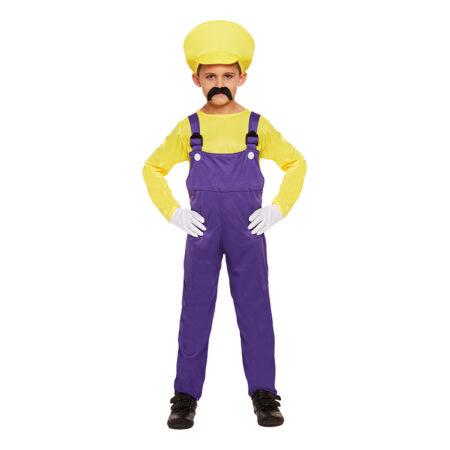Gul super mario børnekostume 450x450 - Gule kostumer til børn