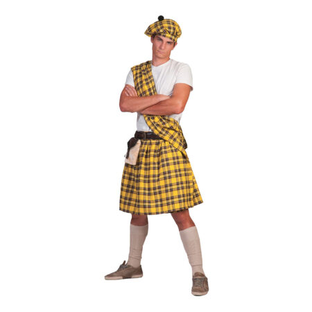 Highlander gul kostume 450x450 - Gule kostumer til voksne