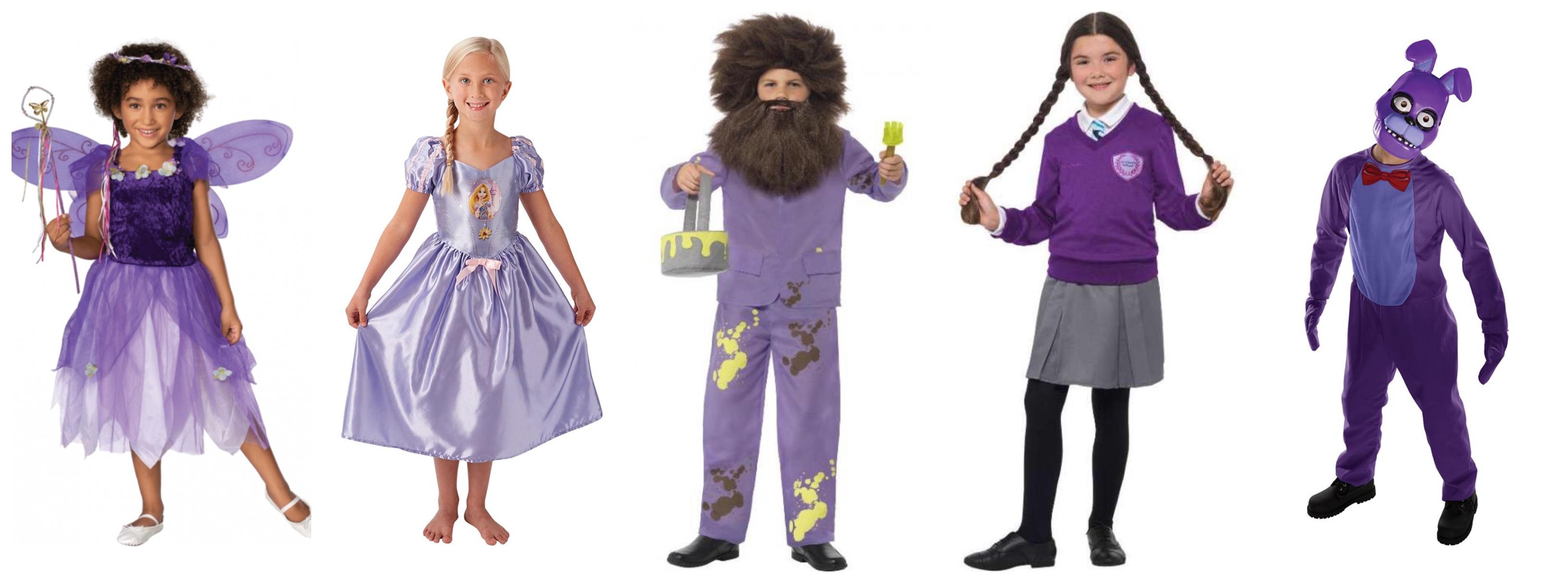 Lilla børnekostumer lilla kostumer til børn - Lilla kostumer til børn