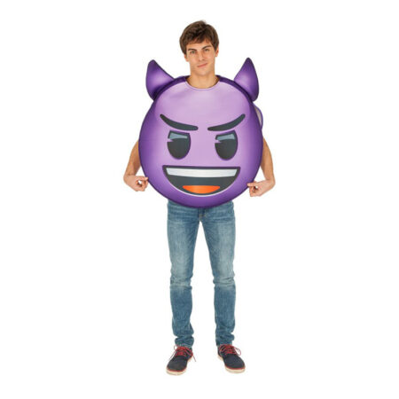 Lilla emoji djævel kostume 450x450 - Lilla kostumer til voksne