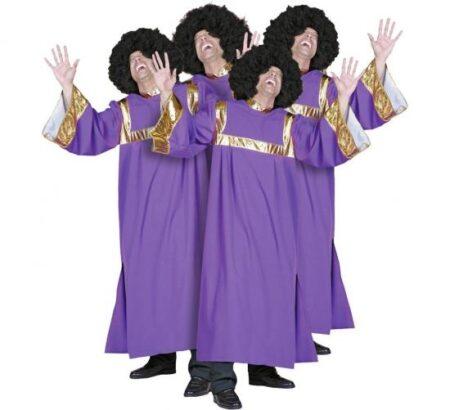 Lilla gospelsanger kostume til voksne 450x410 - Lilla kostumer til voksne