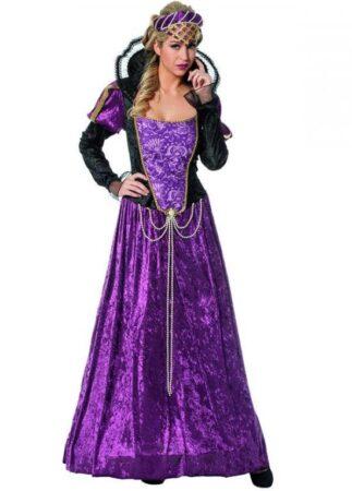 Lilla middelalder prinsesse kostume 323x450 - Lilla kostumer til voksne