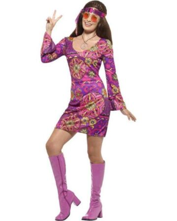 Lilla woodstock hippie kostume 360x450 - Lilla kostumer til voksne