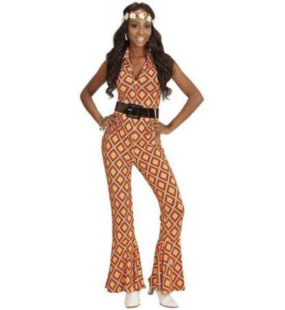 Orange diskodragt til kvinder 415x450 - Orange kostumer til voksne