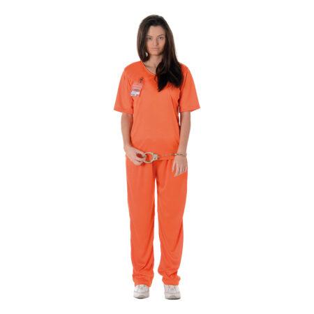 Orange fangedragt til kvinder 450x450 - Orange kostumer til voksne