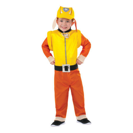 Paw Patrol Bulldog Rubble Børnekostume 450x450 - Orange kostumer til børn