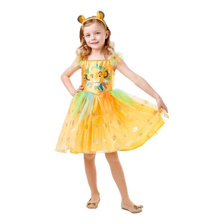 Simba kjole til børn 450x450 - Gule kostumer til børn