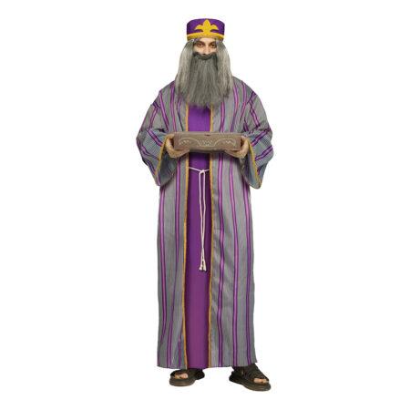 de tre vise mænd lilla kostume til voksne julekostume til voksne kong melchior udklædning krybbespil kostume