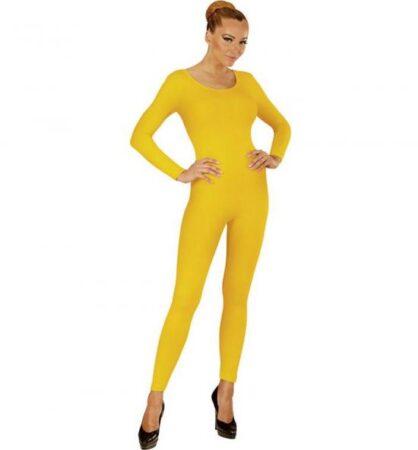 gul langærmet heldragt til kvinder 418x450 - Gule kostumer til voksne