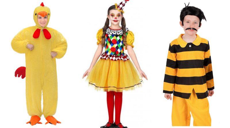 gule kostumer til børn, gule børnekostumer, gul udklædning til børn, gule kostumer til drenge, gule kostumer til piger, gule dyre kostumer til børn, bi kostume til børn, gule fastelavnskostumer til drenge, gule fastelavnskostumer til piger,