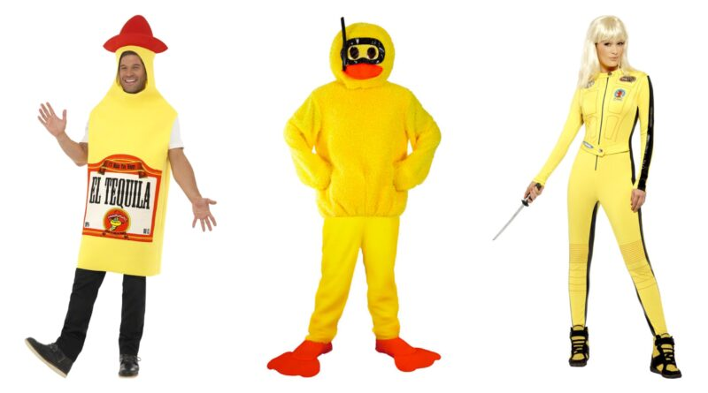 gule kostumer til voksne, gule kostumer til mænd, gule kostumer til kvinder, gule voksenkostumer, sjove kostume til voksne, kostume til gul temafest, kendte gule kostumer, gule mad kostumer til voksne, gule kostumer til sidste skoledag, gule kostumer til fastelavn, gule fastelavnskostumer til voksne, gule kostumer budget, gule kostumer tilbud