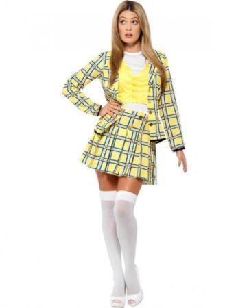 gult clueless kostume til kvinder 363x450 - Gule kostumer til voksne
