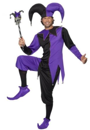 hofnar kostume lilla kostume til voksne nar uklædning hofnar udklædning lilla udklædning til mænd