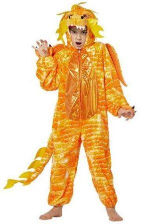 kinesisk drage orange børnekostume 313x450 - Orange kostumer til børn