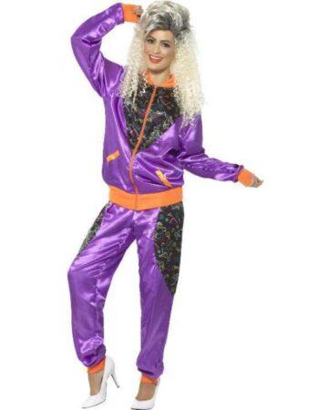 lilla 80´er træningsdragt til kvinder 362x450 - Lilla kostumer til voksne