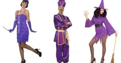 Lilla kostumer til voksne, lilla voksenkostumer, lilla udklædning til voksne, lilla kostume til mænd, lilla kostume til kvinder, lilla fastelavnskostume til voksne, lilla kostumer tilbud, lilla kostumer budget