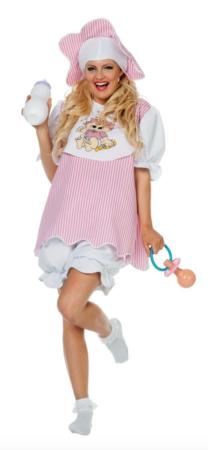 lyserødt baby kostume til voksne 208x450 - Baby kostume til voksne