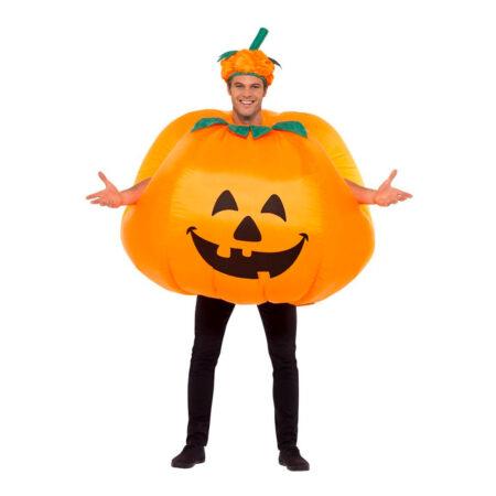 oppusteligt græskarkostume 450x450 - Orange kostumer til voksne