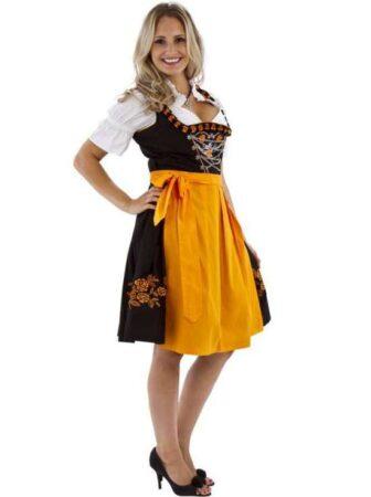 orange Dirndl kostume 336x450 - Orange kostumer til voksne