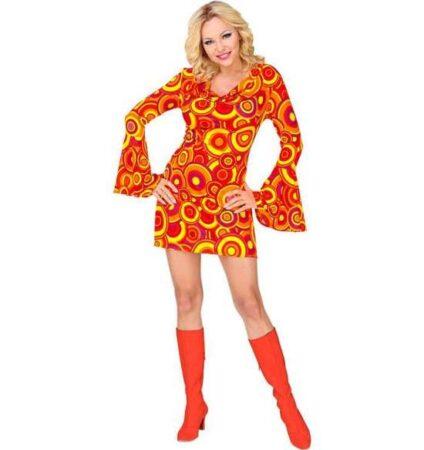 orange disko kostume til kvinder 424x450 - Orange kostumer til voksne