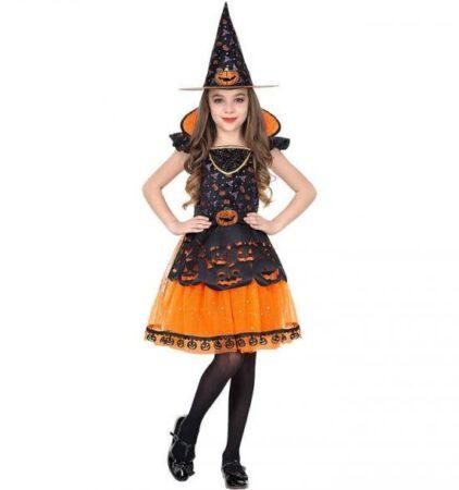 orange heks børnekostume 422x450 - Orange kostumer til børn