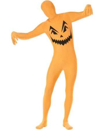 skinsuit græskar kostume 360x450 - Orange kostumer til voksne