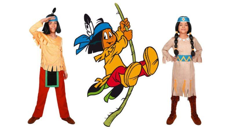 yakari kostume til børn yakari udklædning yakari regnbue kostume yakari regnbue udklædning til børn