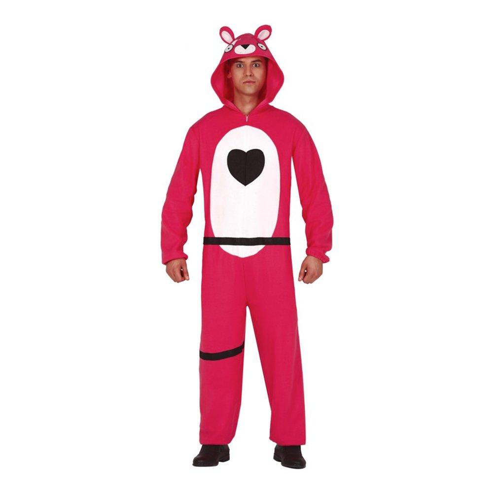 Computerspil pink bjørn kostume - Lyserøde/pink kostumer til voksne
