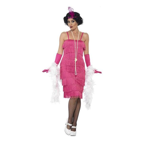 Flapper Lyserødt Kostume til voksne - Lyserøde/pink kostumer til voksne
