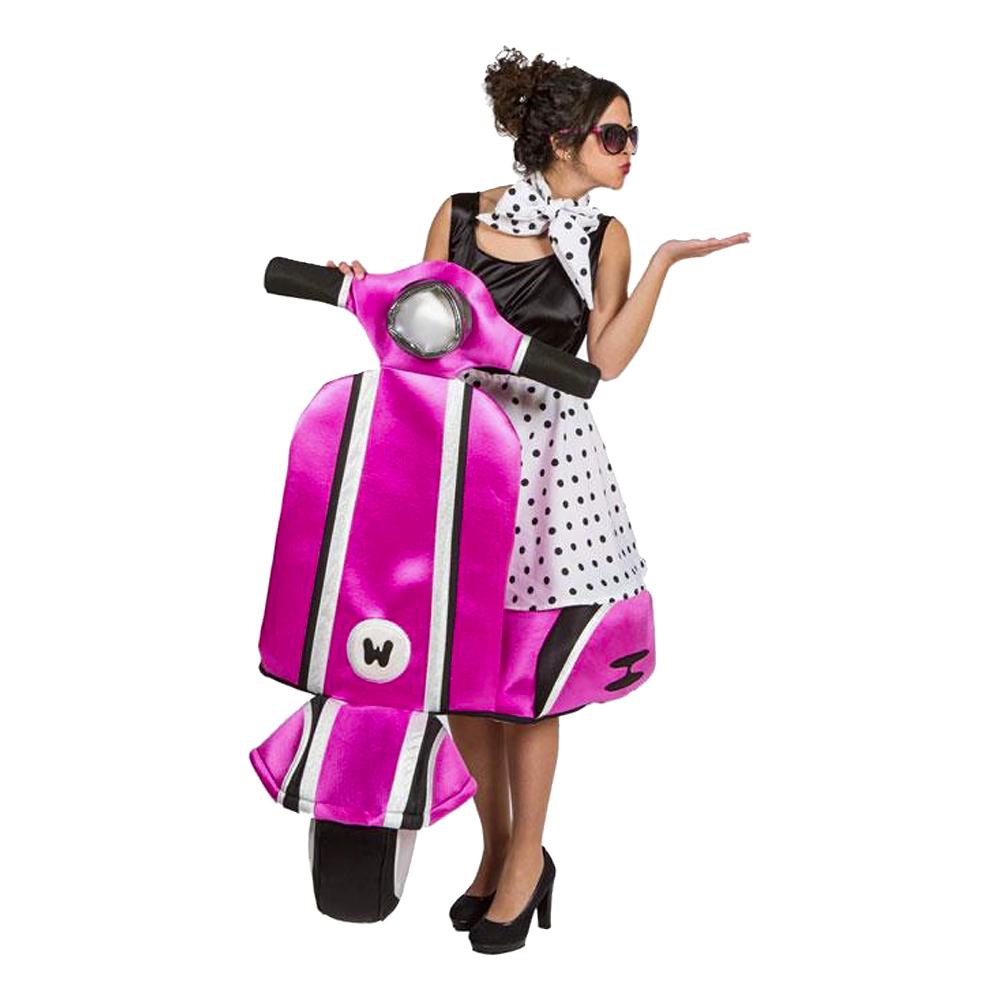 Kørende 50er Knallertpige Kostume pink kostume til voksne - Lyserøde/pink kostumer til voksne