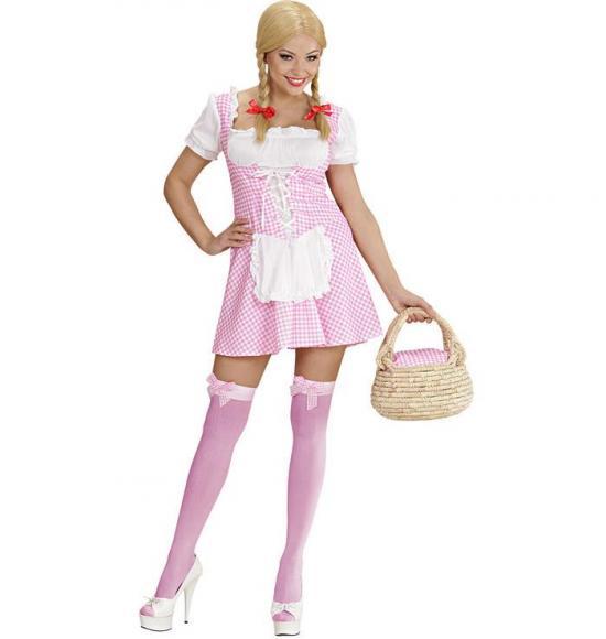 Miss muffet lyserød kostume - Lyserøde/pink kostumer til voksne