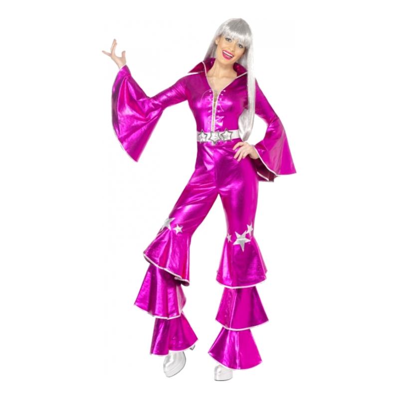 Pink 70 er sangerinde kostume - Lyserøde/pink kostumer til voksne
