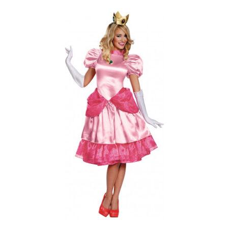 Prinsesse peach kostume til voksne lyserød kostume 450x450 - Lyserøde/pink kostumer til voksne