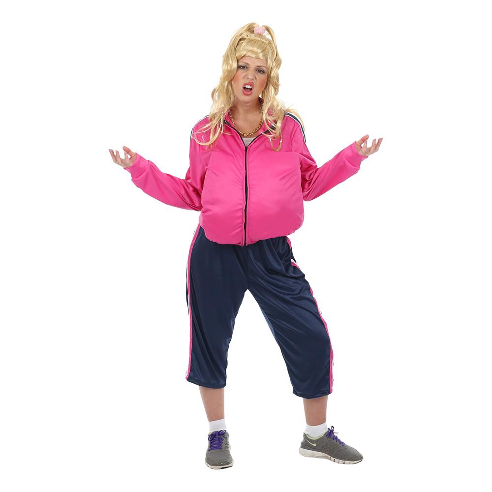 Vicky pollard kostume - Lyserøde/pink kostumer til voksne