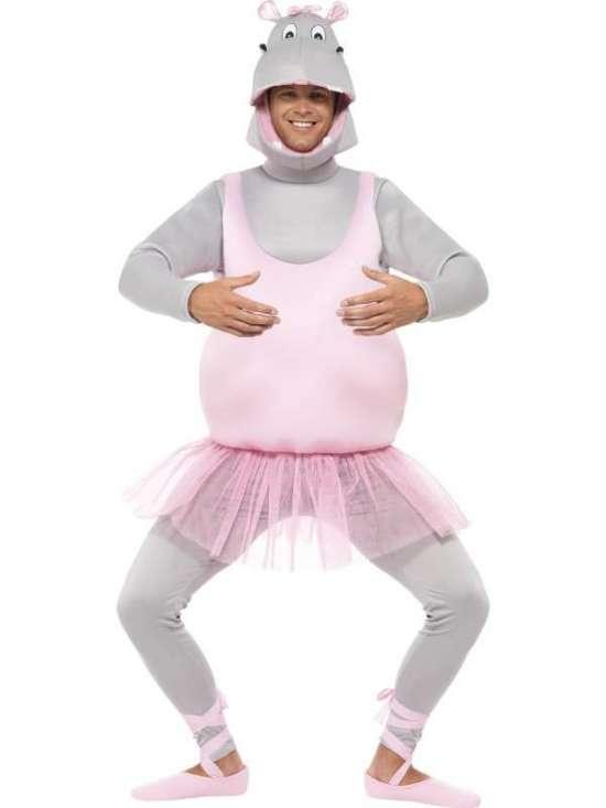 ballerina flodhest kostume til voksne - Flodhest kostume til voksne