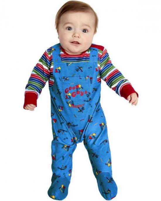 chucky babykostume - Chucky kostume til børn og baby