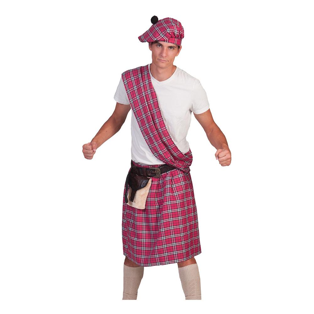 lyserød skotte kostume til voksne - Lyserøde/pink kostumer til voksne
