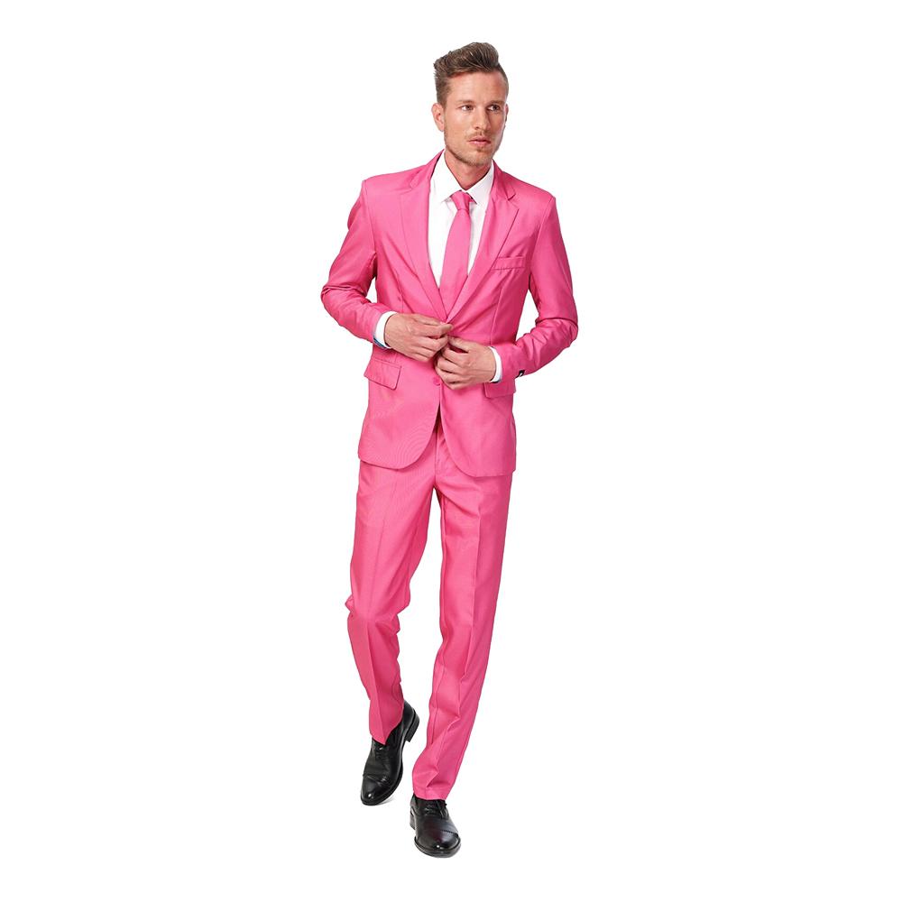 lyserødt suitmeister jakkesæt - Lyserøde/pink kostumer til voksne