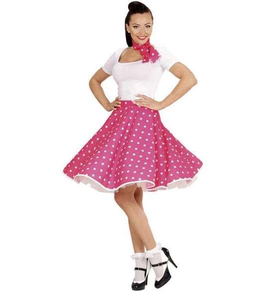 pink 50 er nederdel - Lyserøde/pink kostumer til voksne