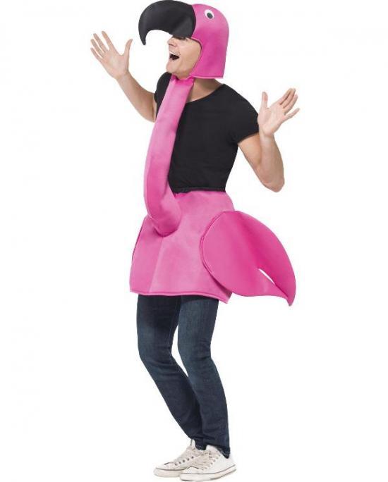 pink flamingo kostume - Lyserøde/pink kostumer til voksne