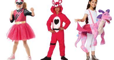 pink kostumer til børn, lyserøde kostumer til børn, lyserøde børnekostumer, pink børnekostumer, pink fastelavnskostume til børn, lyserød fastelavnskostume til børn, pink kostumer tilbud, pink kostumer budget