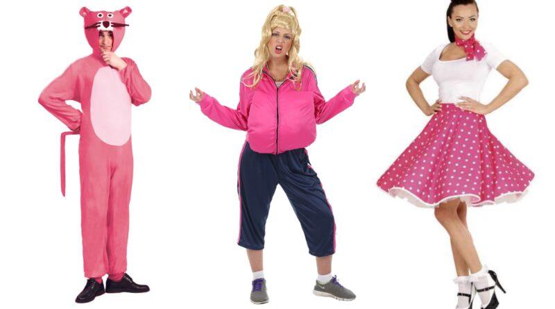pink kostumer til voksne, lyserøde kostumet til voksne, pink voksenkostumer, lyserøde voksenkostumer, pink fastelavnskostume til voksne, pink kostume til sidste skoledage
