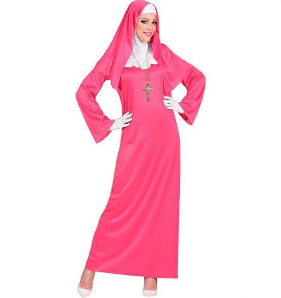 pink nonne kostume - Lyserøde/pink kostumer til voksne